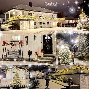 Snø! ...og bilder av huset pyntet til jul =)