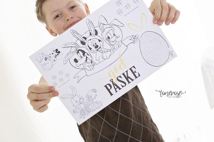 Gratis aktivitetsark // Påske // Dekkebrikke