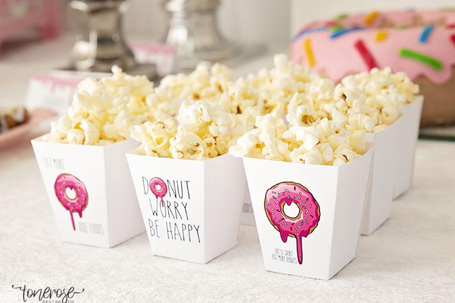 Donut Party // Gratis print // Popcornboks