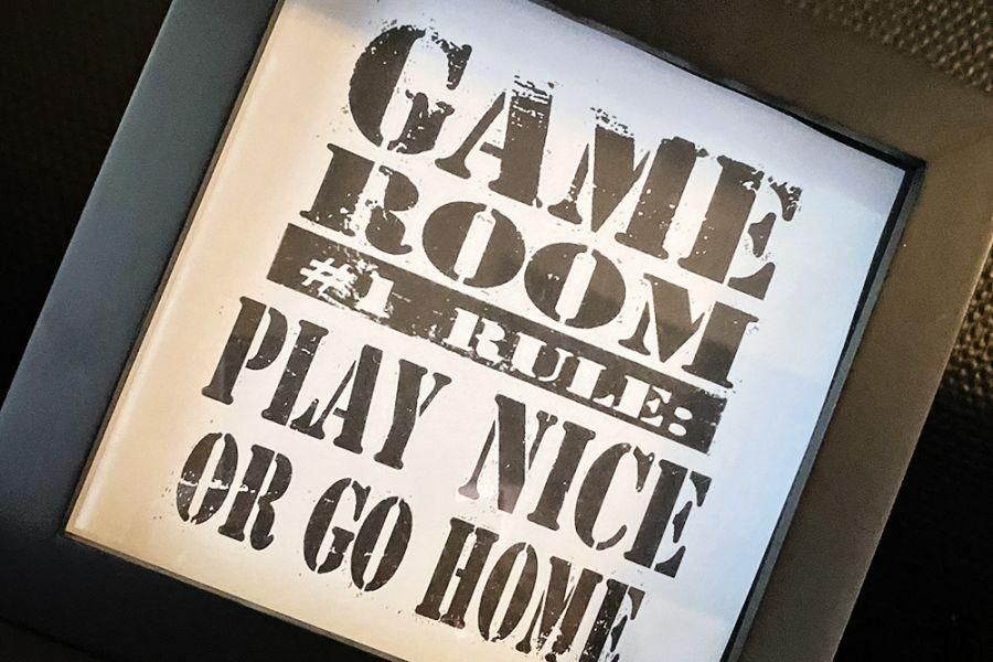 Gaming-rom // Gratis print // Play nice or go home