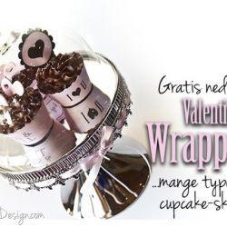 Valentines Dag Cupcake Wrapper {Gratis nedlasting}