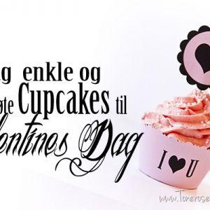 Enkle og supersøte Cupcakes til Valentines dag