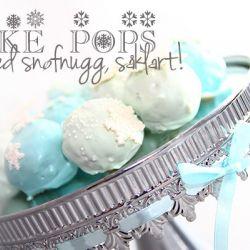 Cake Pops - med snøfnugg, såklart!