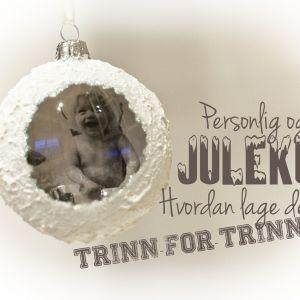 Juletrekule m/bilde inni – hvordan lage de selv!
