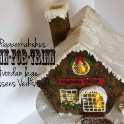 Fremgangsmåte Pepperkakehus – Nissens verksted {Trinn-for-trinn}