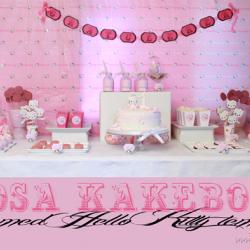 Rosa kakebord / dessertbord! Hello Kitty