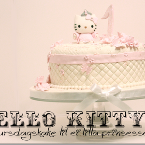 Hello Kitty Kake – bursdagskake til ei litta prinsessa!