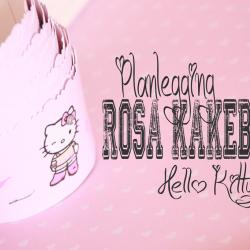 Påbegynt planlegging av rosa kakebord - barnebursdag Hello Kitty-stil!