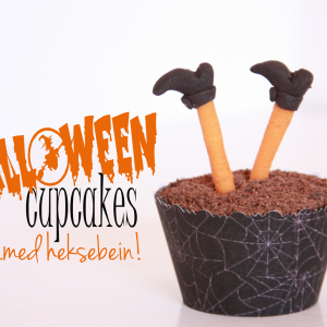 {Halloween} Cupcakes med heksebein!