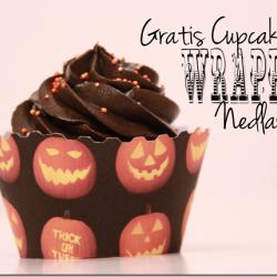 Gratis nedlasting ♥ – Gresskar CupcakeWrapper til Halloween