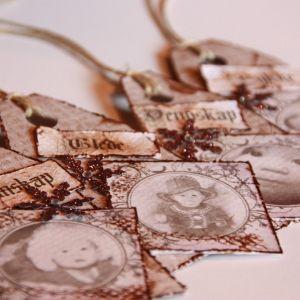 {Juleinspirasjon} Mine vintage julegavelapper – og hvordan lage de selv!