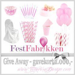 Imponerende GiveAway ifra FestFabrikken! GAVEKORT 1.000,-