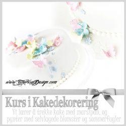 Kurs ♥  Kurs i Kakedekorering - trekke kake med marsipan, lage enkle vakre blomster og sommerfugler