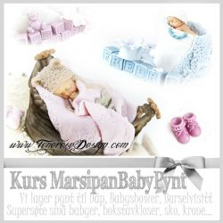 Kurs i Kakedekorering ♥ Marsipanpynt - babystyle!