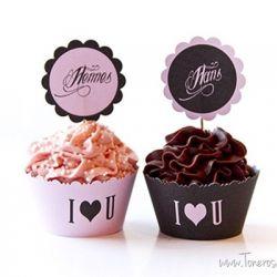 Herlige ValentinesDagCupcakes {Hennes & Hans}