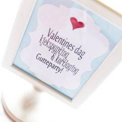 ValentinesDag Kjekspynting & Kortlaging Gutteparty!