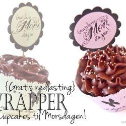 Søte Cupcakes til Morsdagen  { Gratis nedlasting }