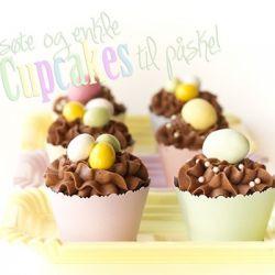 Lag enkle og søte cupcakes til påske! {Påskecupcakes}