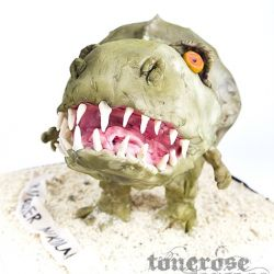 Barnebursdagskake { 3d Dinosaurkake }