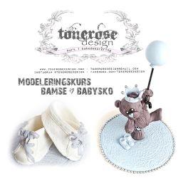 { Kakedekorering } Modeleringskurs - bamse & babysko