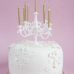 Bursdagskake med mini-kandelaber