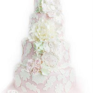 Romantisk Bryllupskake { Vakre Pastellfarger }