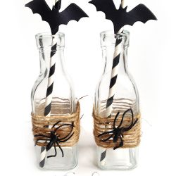 Glassflasker til Halloween { DIY }