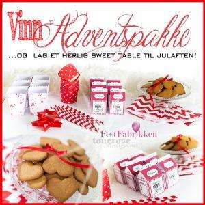 VINN { adventspakke } Lag sweet table til julaften