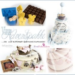 VINN { adventspakke } Lag supersøt babykake/cupcakes