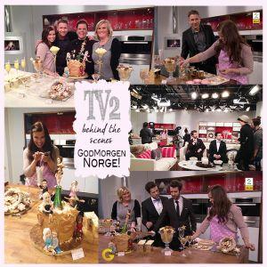 { God morgen Norge TV2 // glitrende dessertbord // behind the scenes }