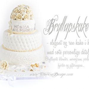 Elegant Bryllupskake i hvitt {Bildedryss}