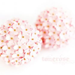 { vakre blomsterkuler // rosa kartong }