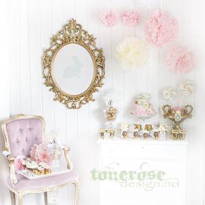 { dessertbord til påske - pastell og gull }