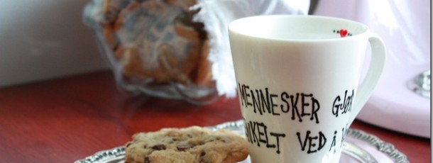 Himmelske amerikanske chocolate chip cookies! Oppskrift