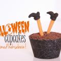 halloween cupcakes heksebein