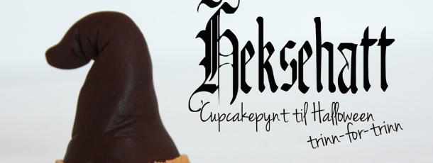 {Halloween} Hvordan lage pynt til Cupcakes – Heksehatter