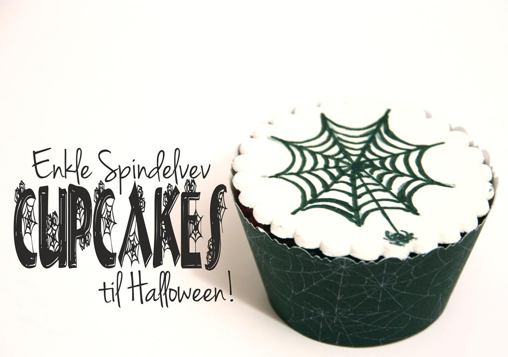 spindelvevcupcakes til halloween enkle