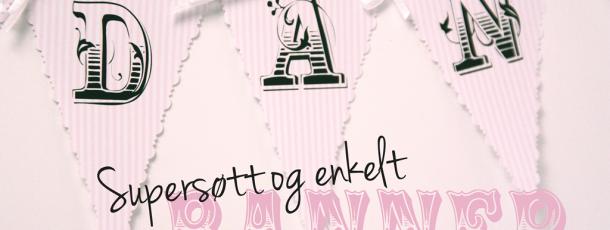 Supersøtt og enkel vimpelrekke til bursdag eller barnedåp ♥ Hello Kitty