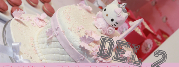 Rosa kakebord Hello Kitty stil – del 2