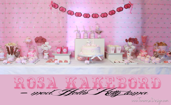 Rosa kakebord / dessertbord! Hello Kitty