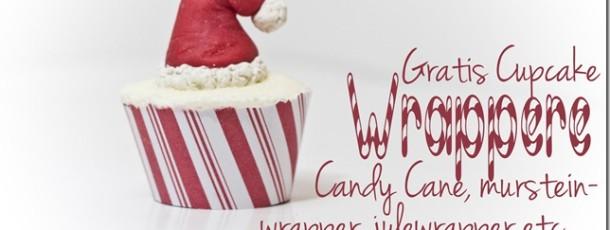 {Gratis Nedlasting} CupcakeWrappere til Jul