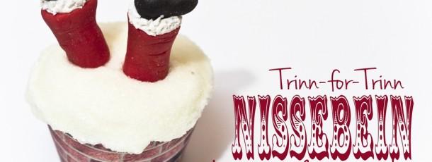 Hvordan lage Julenisse-bein til Cupcakes {Trinn-for-trinn}