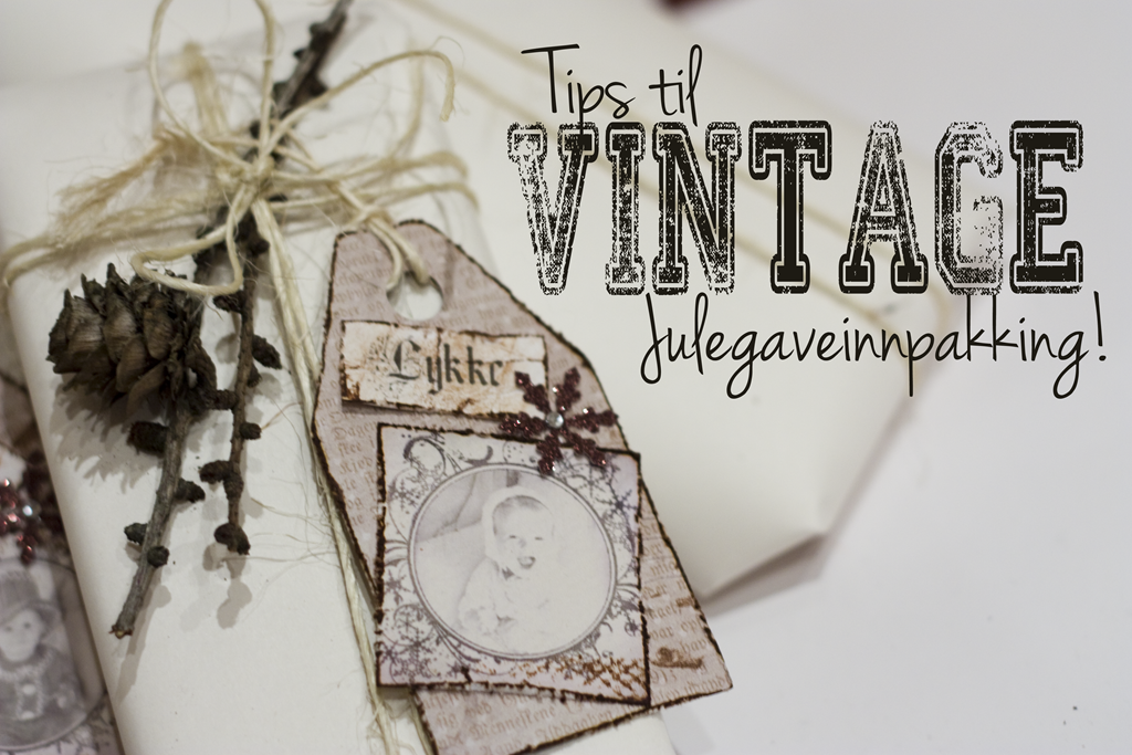 vintage julegaveinnpakking