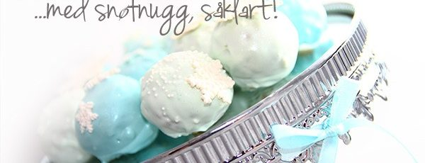 Cake Pops – med snøfnugg, såklart!