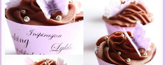 Min favoritt – cupcakes med sjokoladekrem! { Oppskrift }