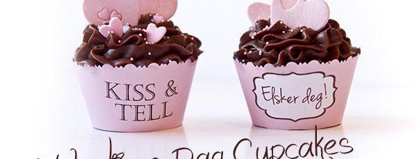 Valentines Dag Cupcakes – med lyserosa hjerter i marsipan