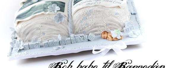 Bok-kake til Barnedåp – lyseblå og hvit, selvfølgelig!