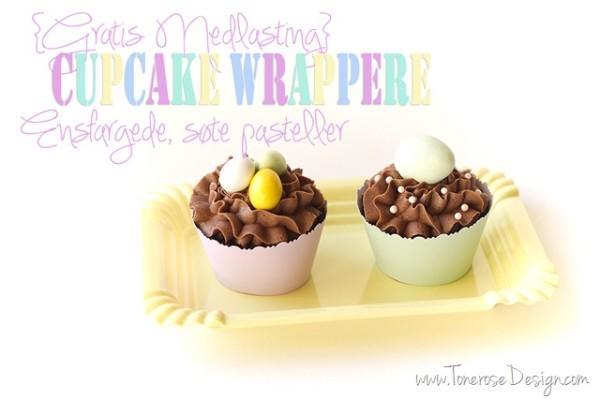 Ensfargede Cupcake Wrappere – søte duse farger! {Gratis Nedlasting}