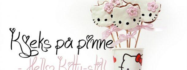 Kjeks/småkaker på pinne – Hello Kitty ! {Tips til barnebursdag}