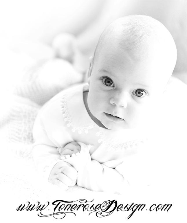 Dåpsbilde barnedåp takkekort